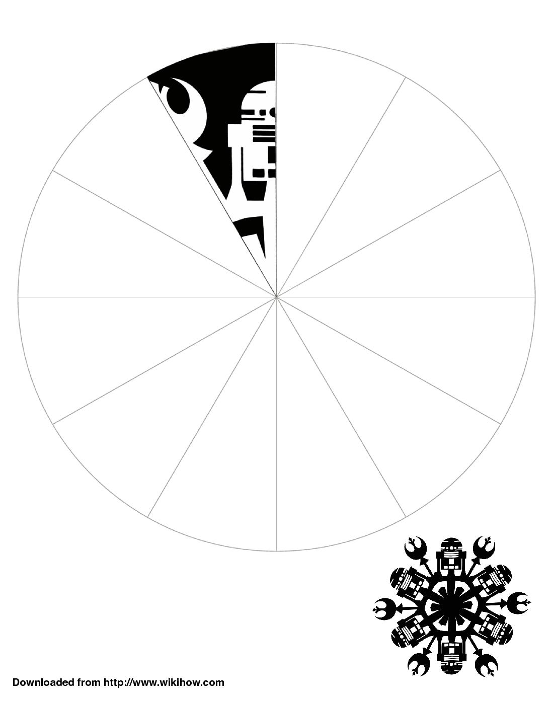 Printable R2 D2 Snowflake Template