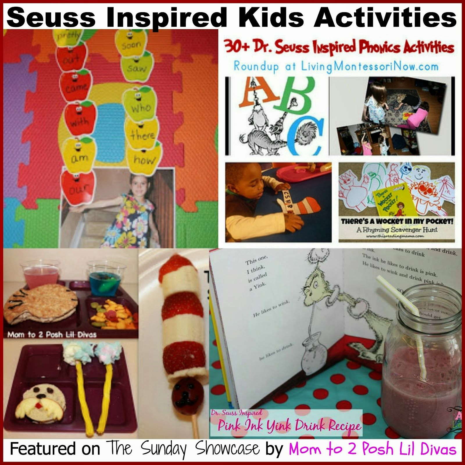 Seuss Inspired Activities For Kids From Mom To 2 Posh Lil Divas
