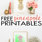 Pineapple wall art walls craft and free printables