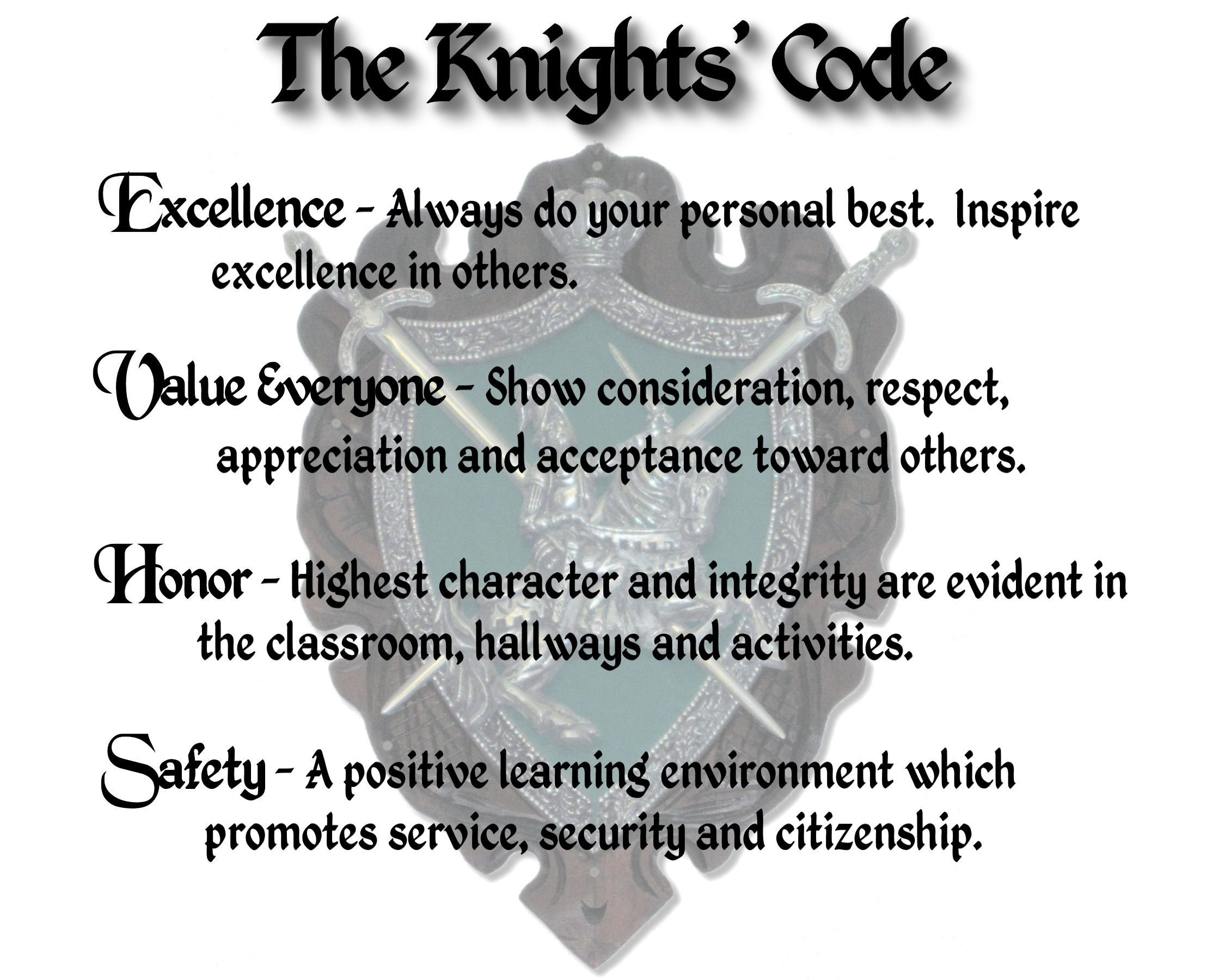 Teach A Son The The Knight S Code