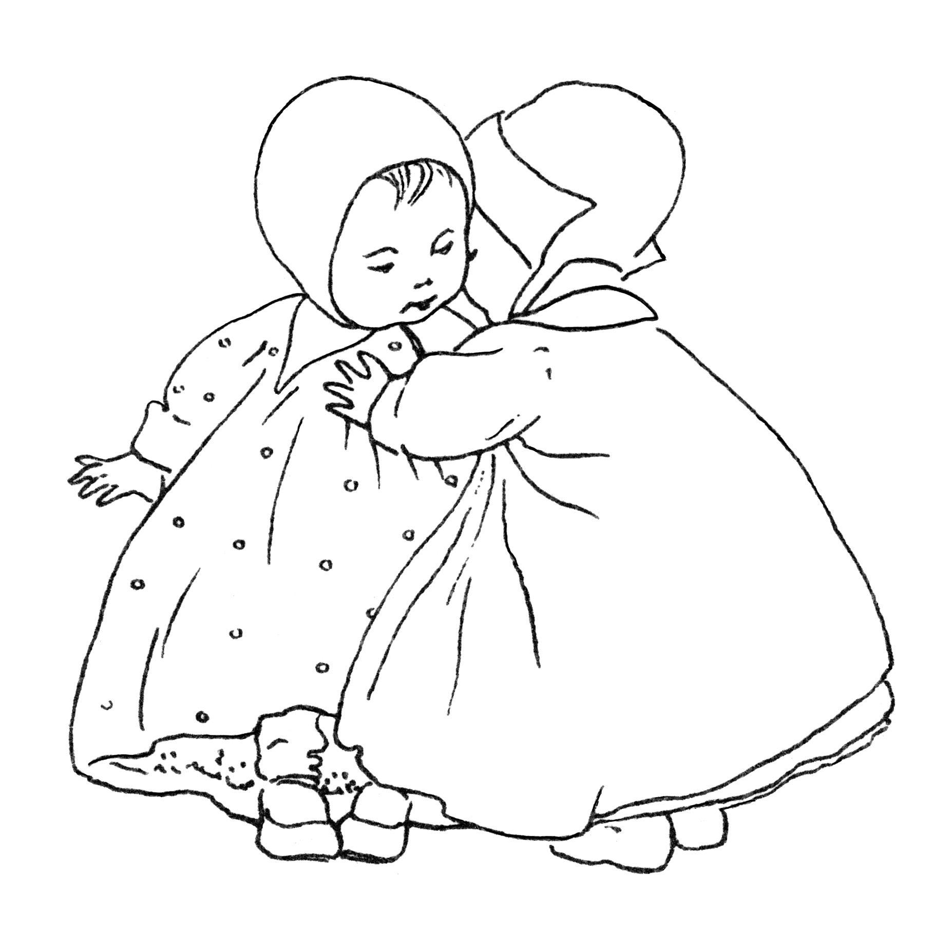 Baby Clip Art Black And White Clipart Vintage Children