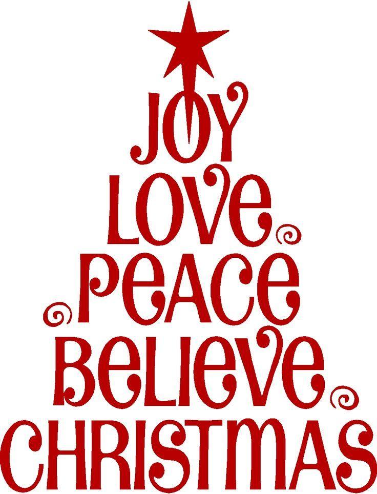 Download Love Joy Christmas Wall Lettering Sticker Vinyl Words ...