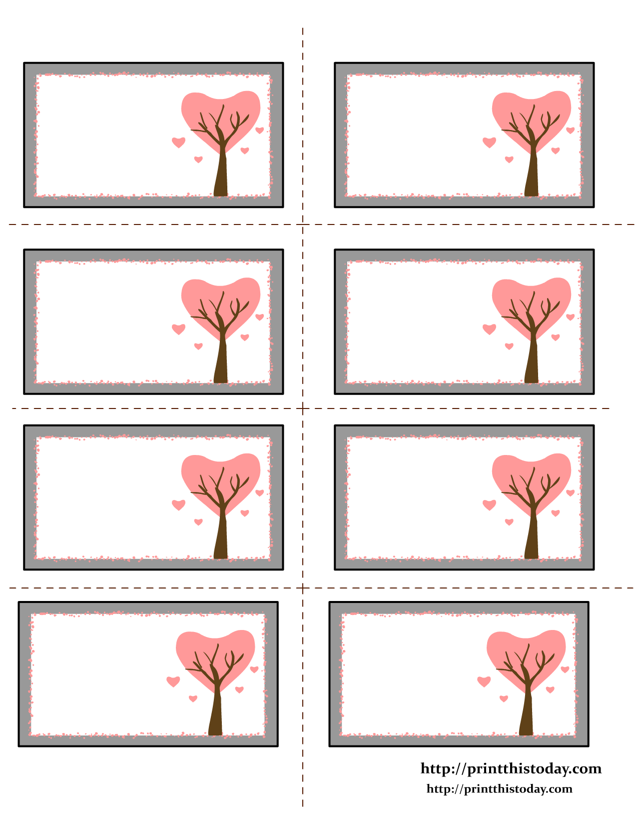 Love Tree Valentine Labels