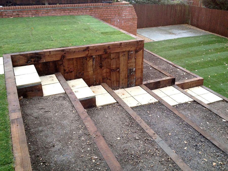tiered garden idea with grassy area | My kinda home ... on Tiered Yard Ideas  id=19648