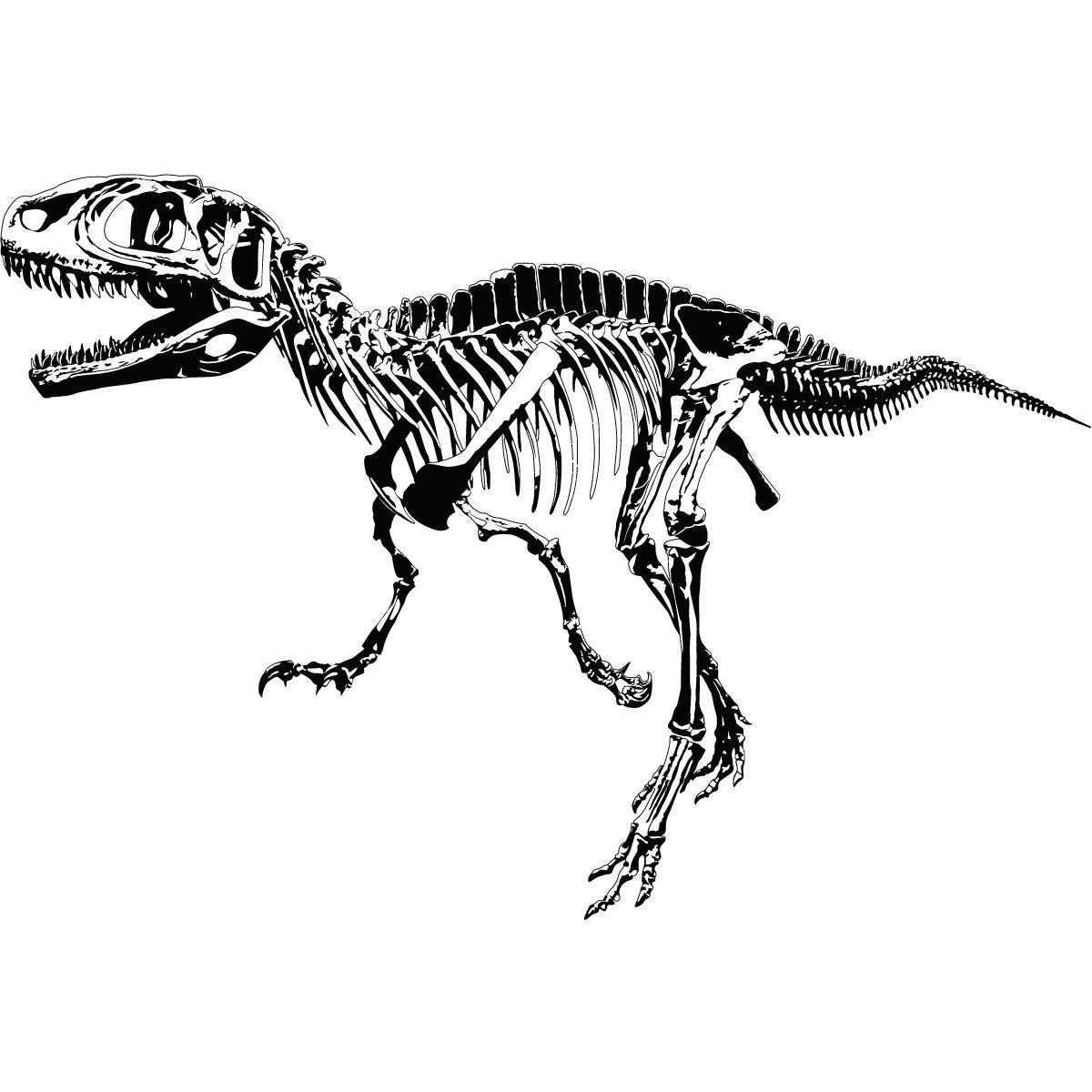 Details About T Rex Skeleton Dinosaurs Wall Art Sticker