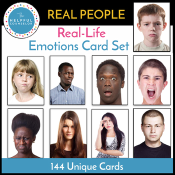 Feelings Activity: Emotion Card Set with REAL PEOPLE ...
