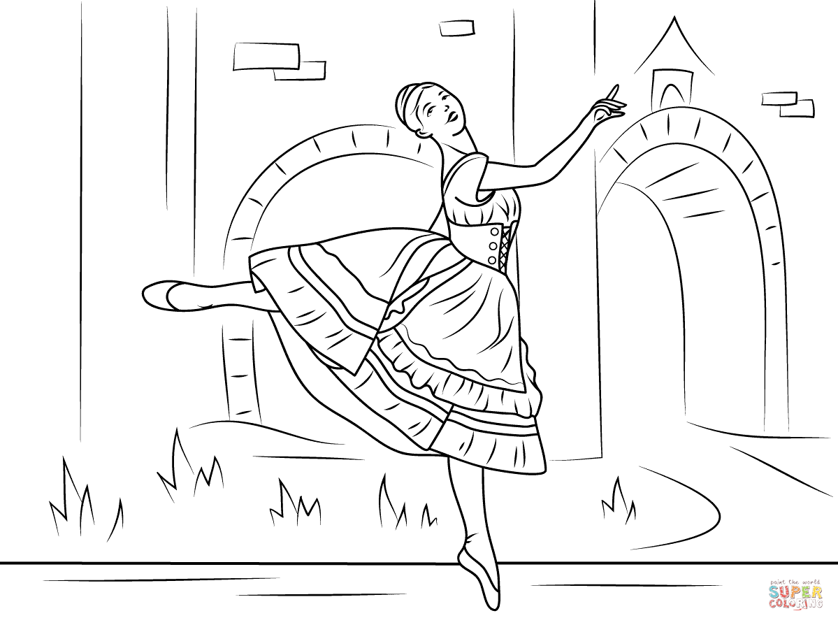 Sleeping Beauty Ballet Coloring Pages