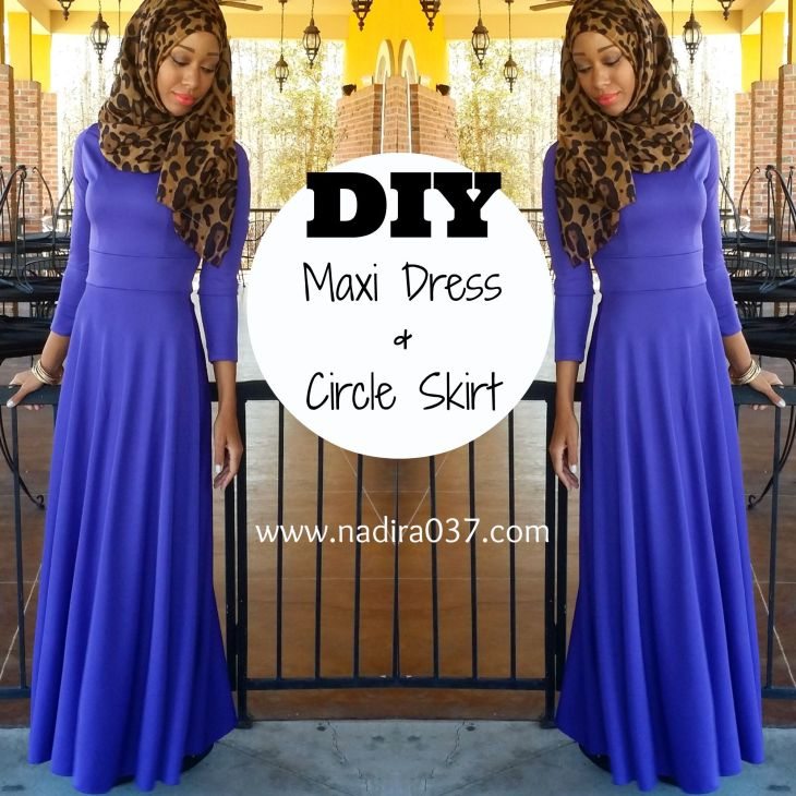 DIY Nadira Maxi Dress tutorial that uses a franken pattern