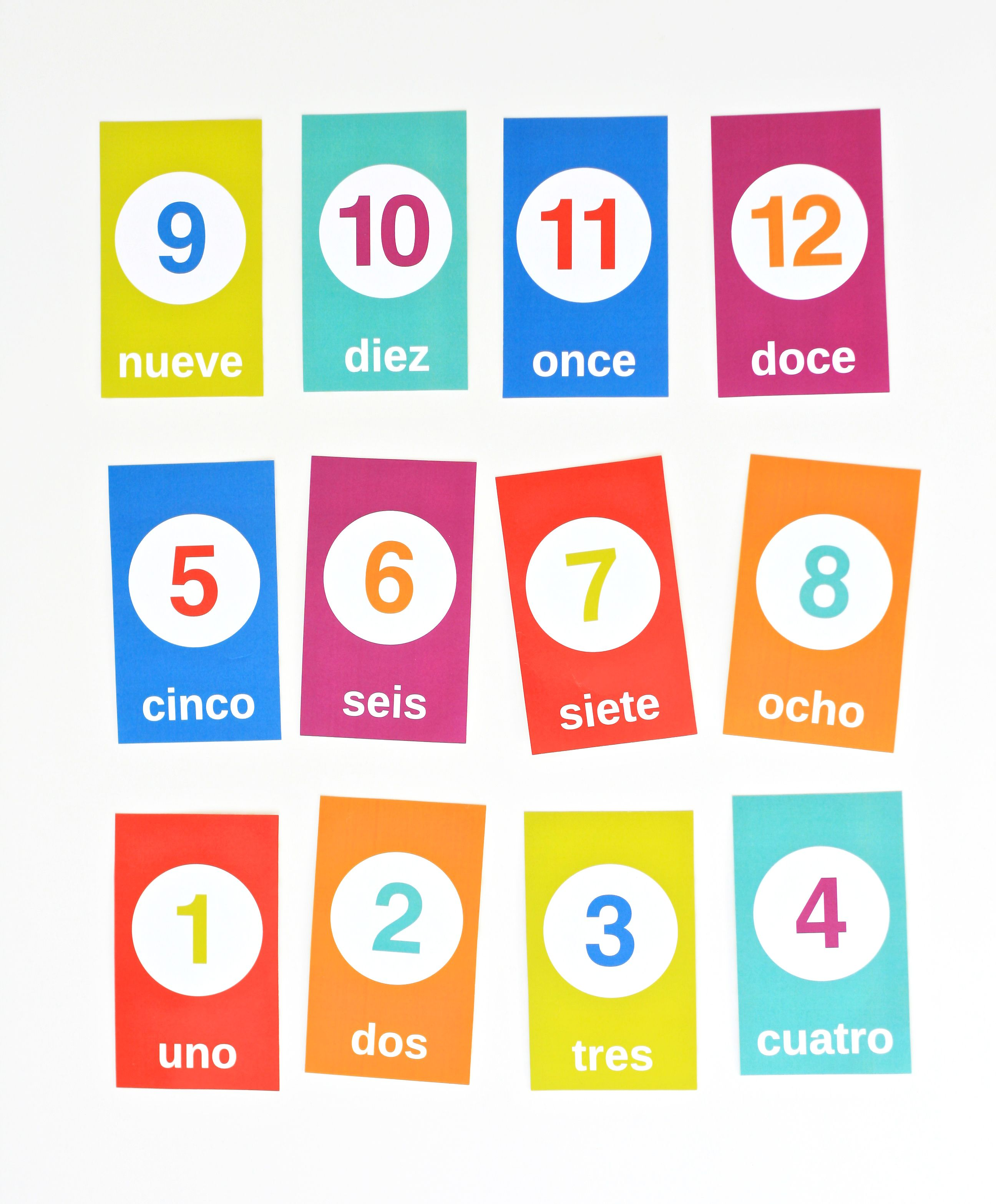 Printable Spanish Counting Flashcards