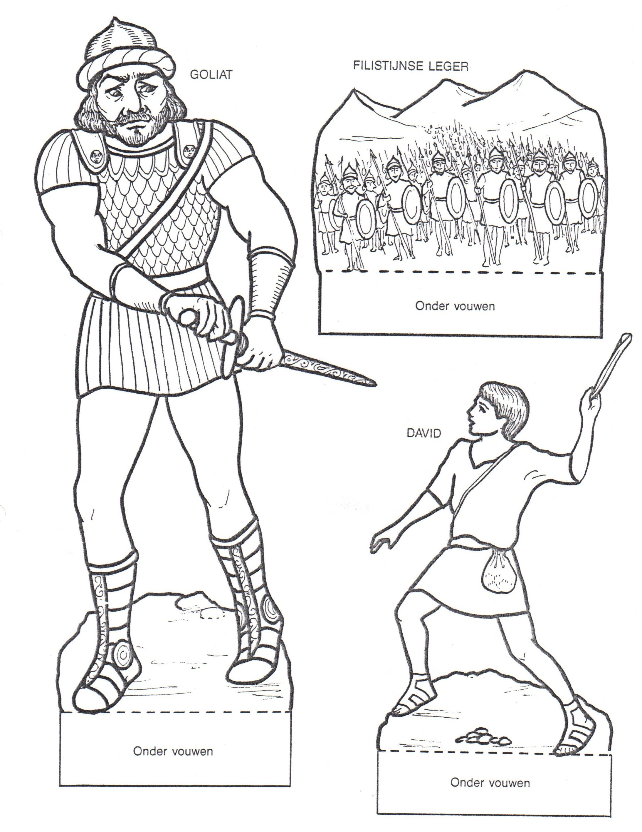David And Goliath Printables Old Testament