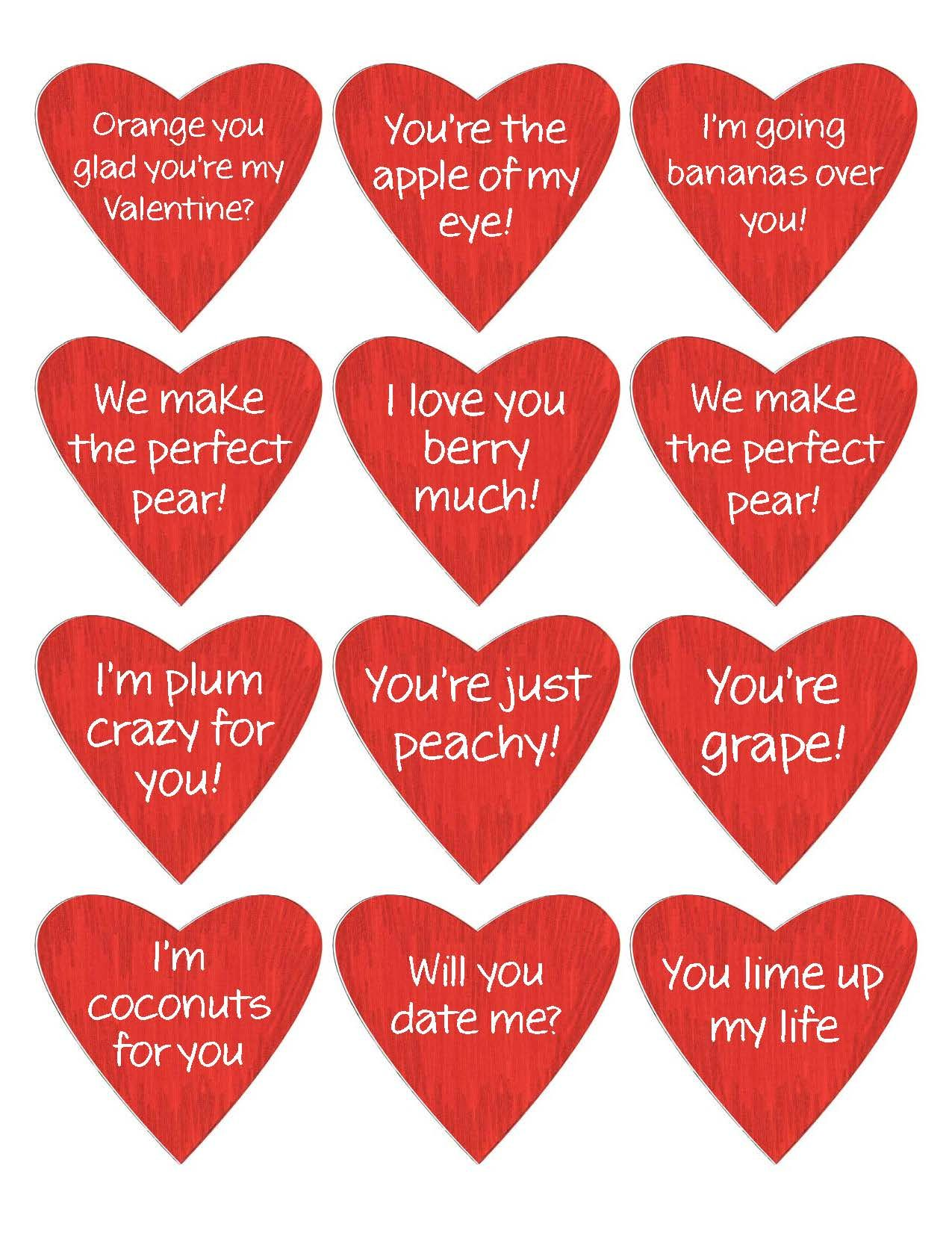 Valentine Fruit Basket Print As Stickers Or Tape On Fruit Arrange In A Basket With Ribbons A
