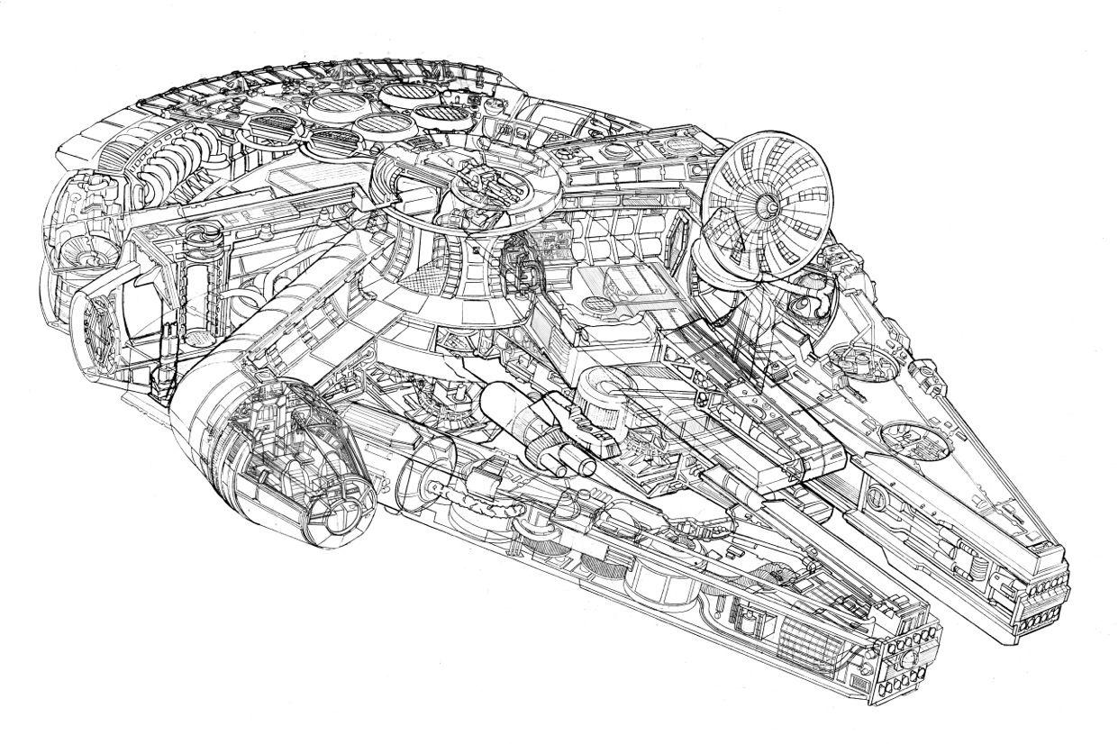 Millenium Falcon Iso Blueprint