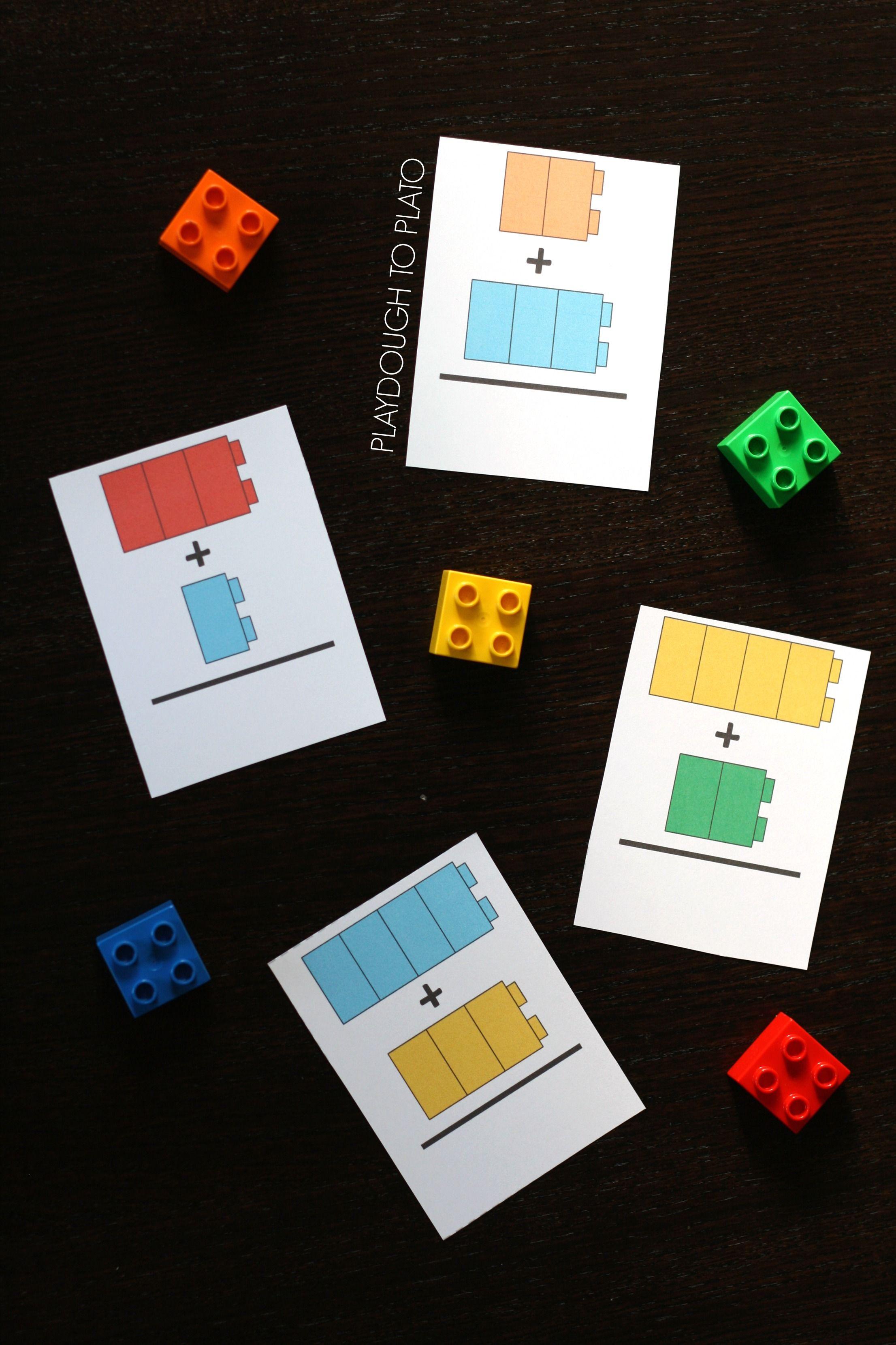 Free Lego Addition Cards