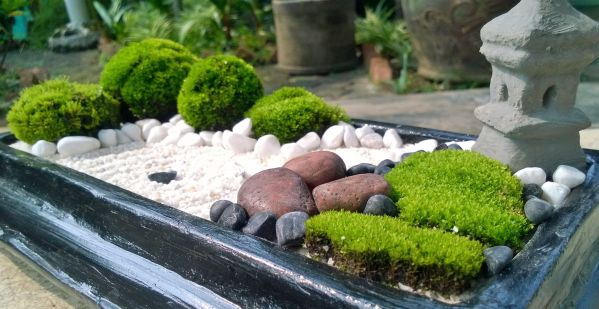 japanese small zen garden brown stone mini zen garden, DIY | Garden Zen & Japanese