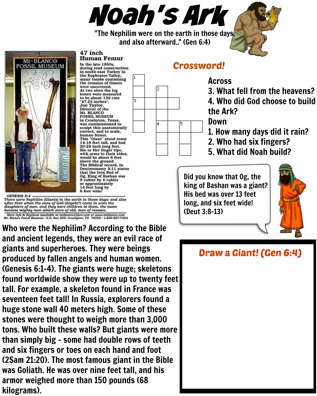 Giants Noah S Ark Worksheet 2 Teach Your Children All