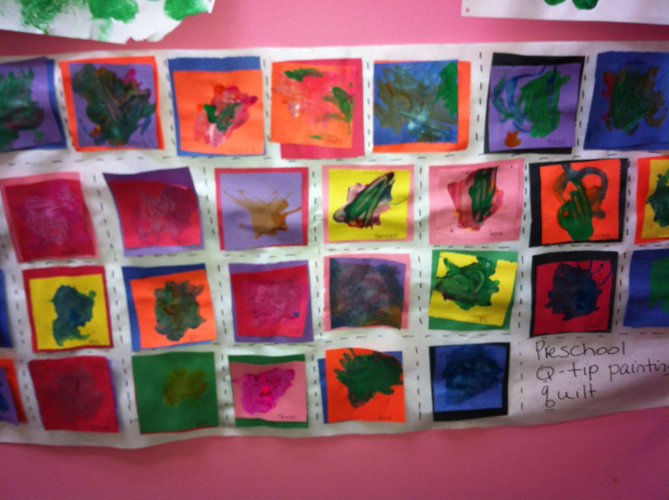 Preschool Q Tip Painting