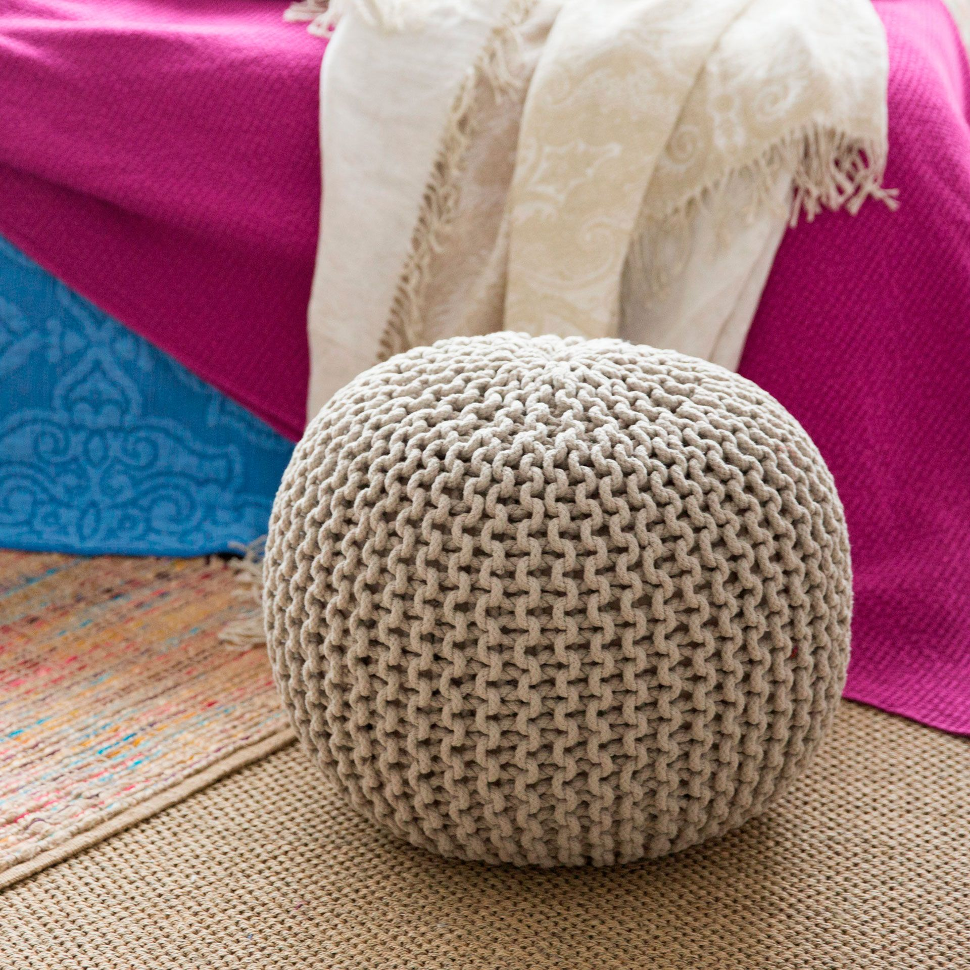 Latest Round Braided Pouf Occasional Furniture Zara Home