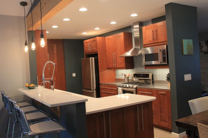 Galley kitchen remodel after there are so many little custom