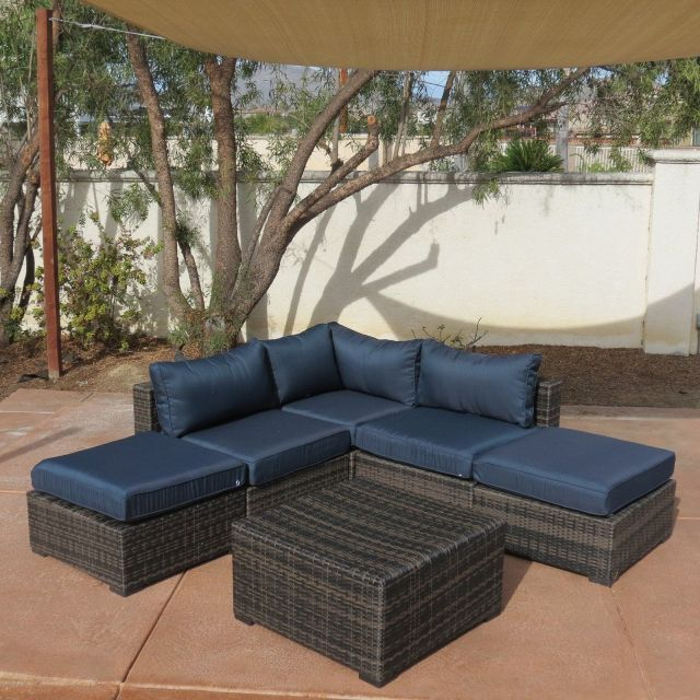 outdoor creative living south hampton 6 piece wicker sectional set