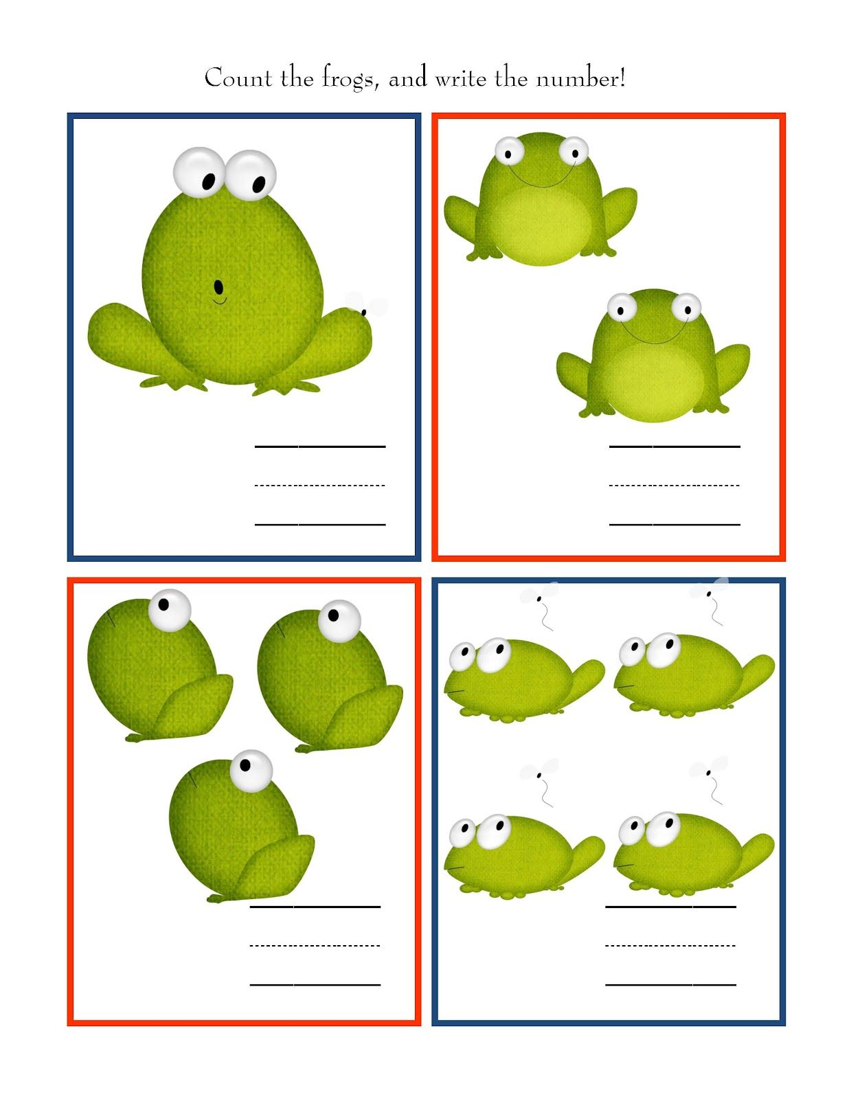 Preschool Printables Free Frog Printable