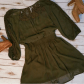 Army green sheer u lace dress nwot