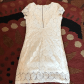 Offwhite lace dress white lace shortsleeve dress gently worn