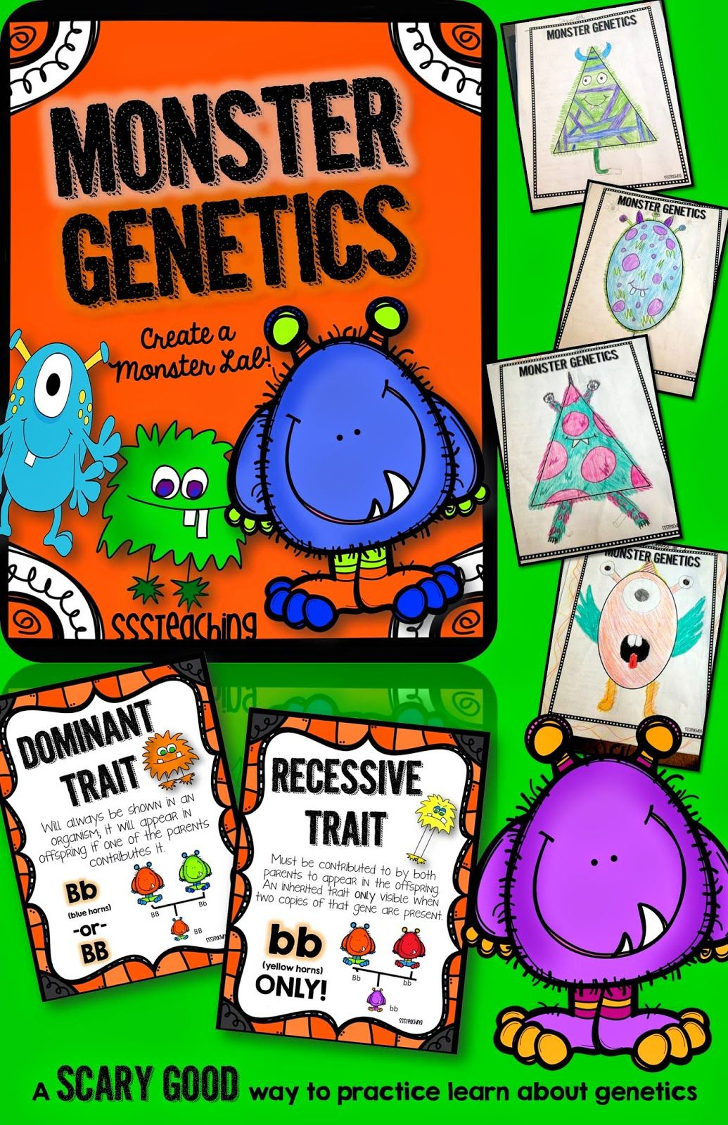 Monster Genetics Traits Heredity And Fun L In One