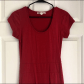 Threads thought red hi low dress sz s dark colors organic
