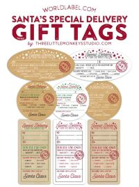Personalized christmas gift tags from santa merry christmas and we negle Image collections