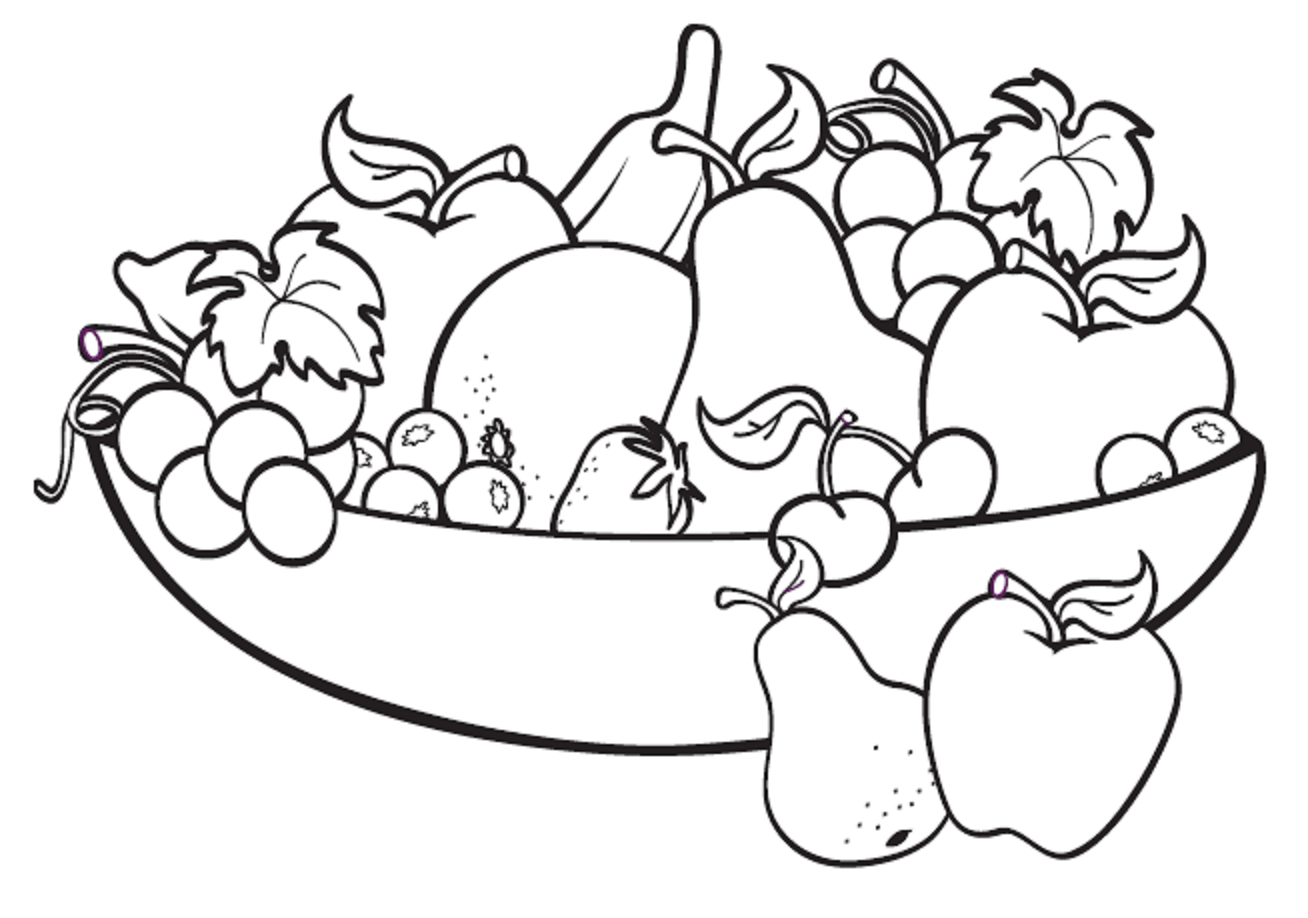 Fruit Bowl Drawing For Kids