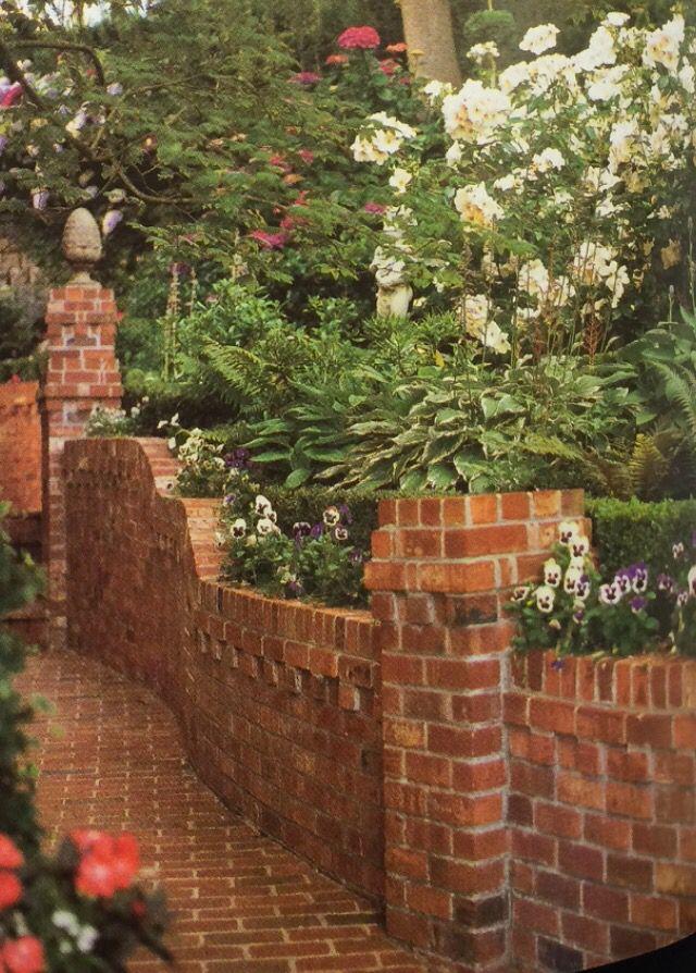 Brick Retaining Wall Landscape Design Pinterest