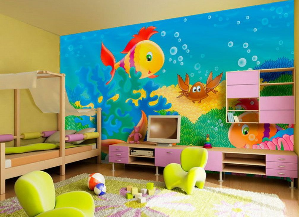 Simple Wall Painting Ideas For Kids Room Novocom Top