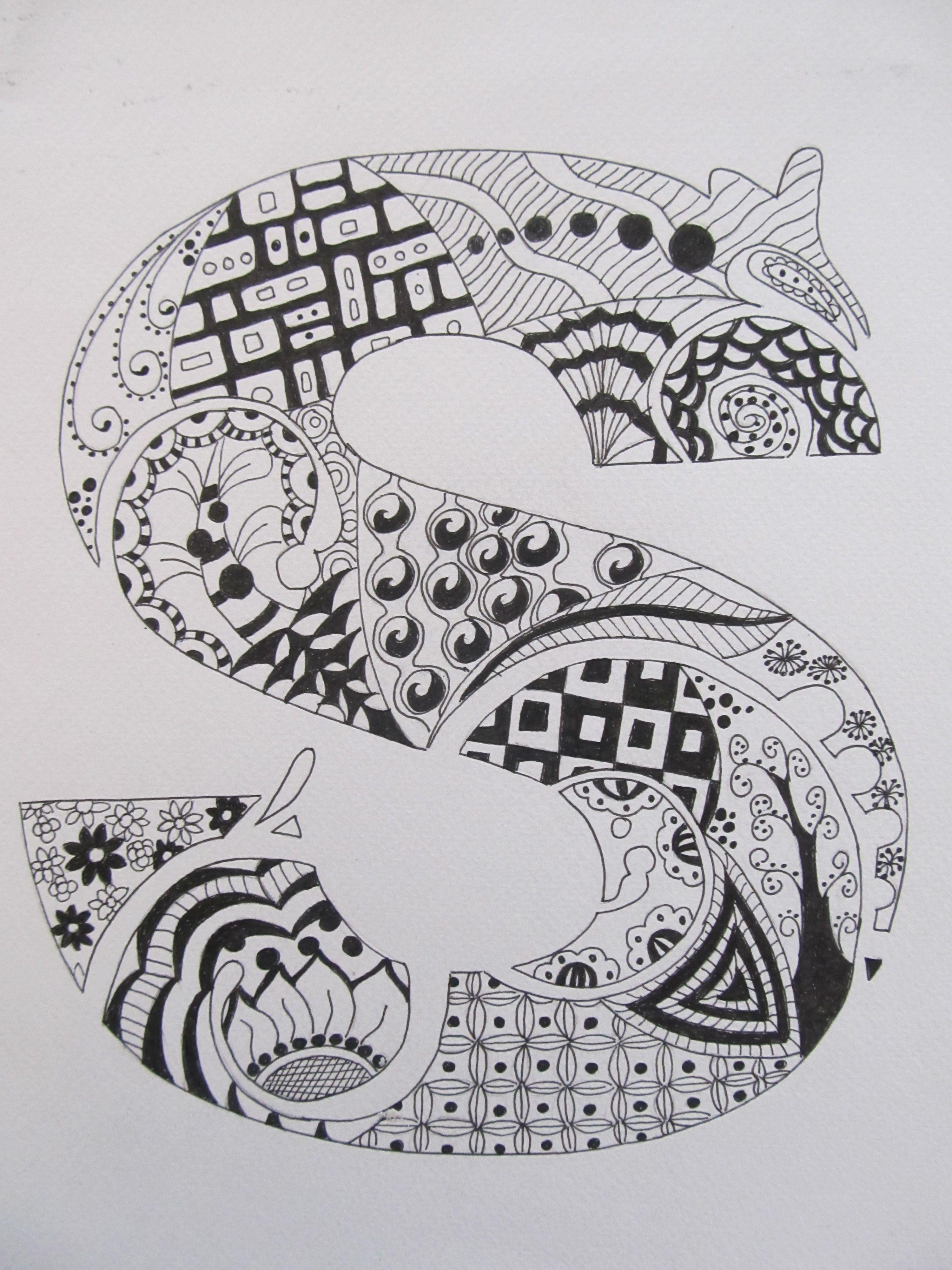 Zentangle Letter Art