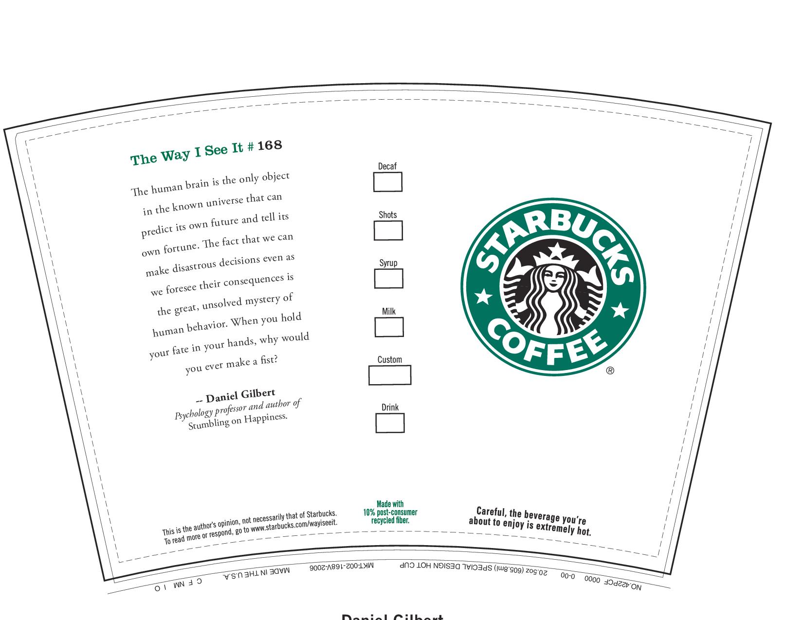 Printable Starbucks Cup