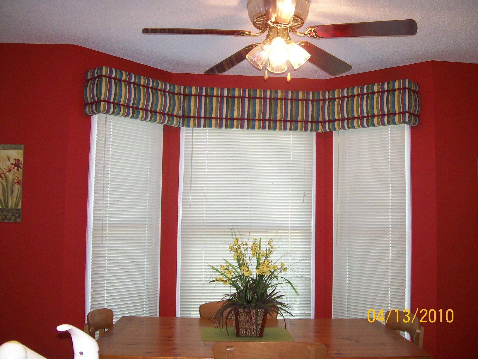Kitchen Bay Window Ideas Avalon No Sew Window Cornice