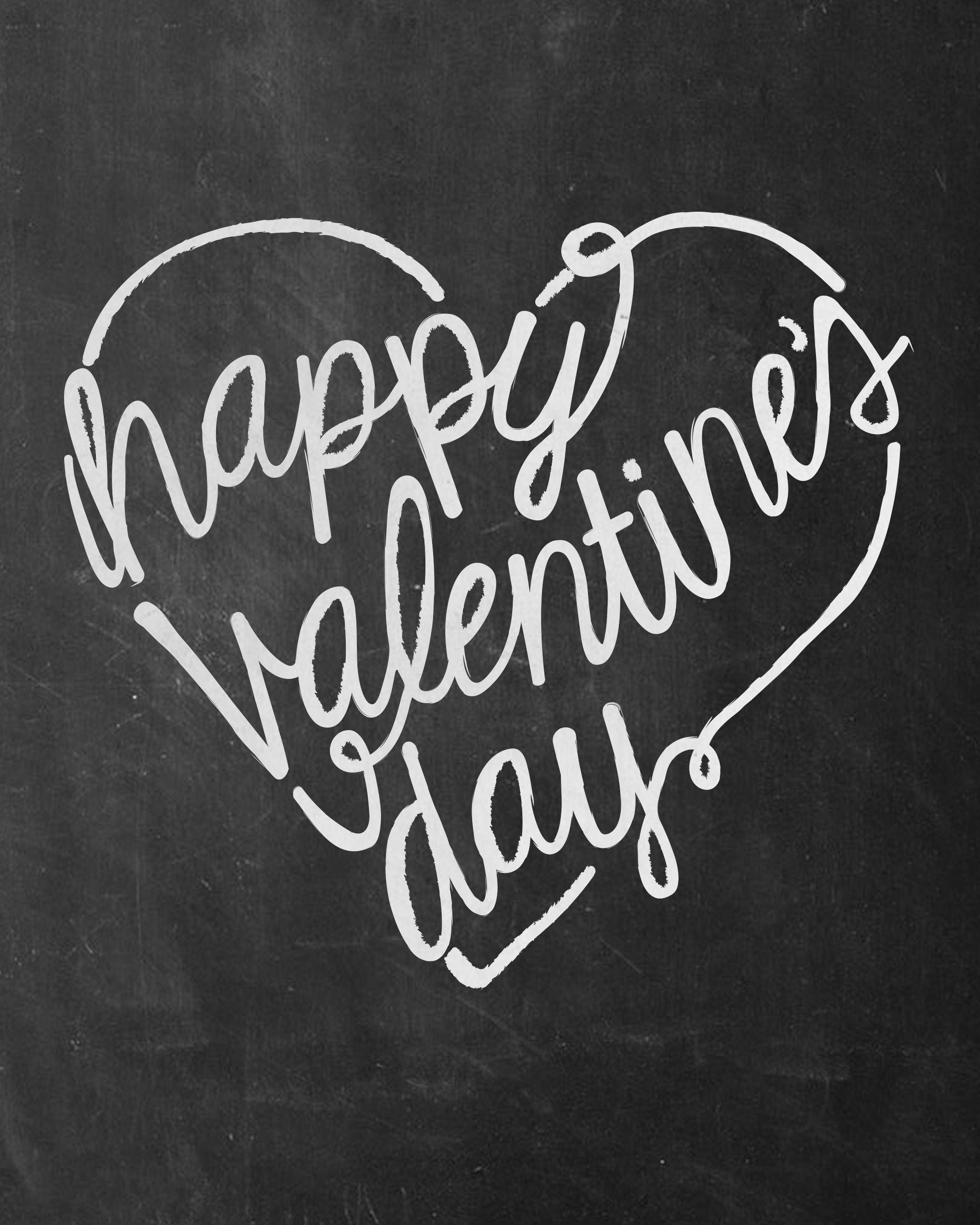 Valentine S Day Chalkboard Free Printable Sign
