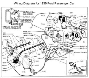 Wiring diagram for 1936 Ford | Wiring | Pinterest | Ford