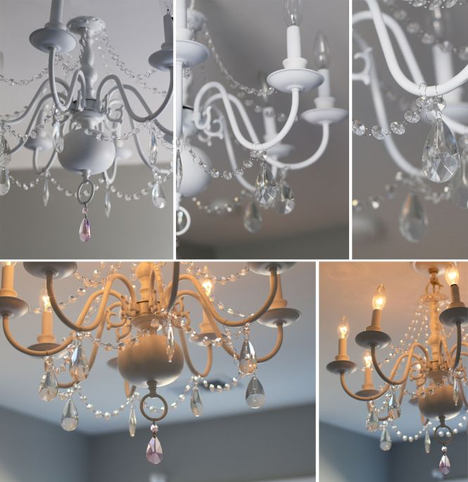 Diy Chandelier Before After For Little S Room