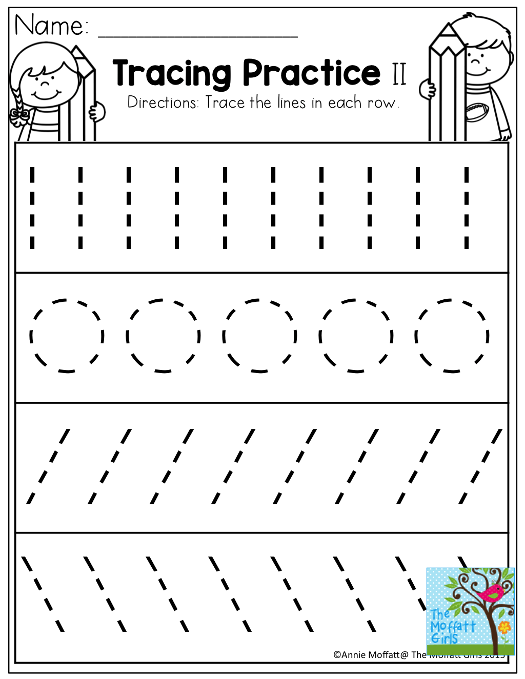Tracing Practice Tons Of Printable For Pre K Kindergarten 1st Grade 2nd Grade And 3rd Grade