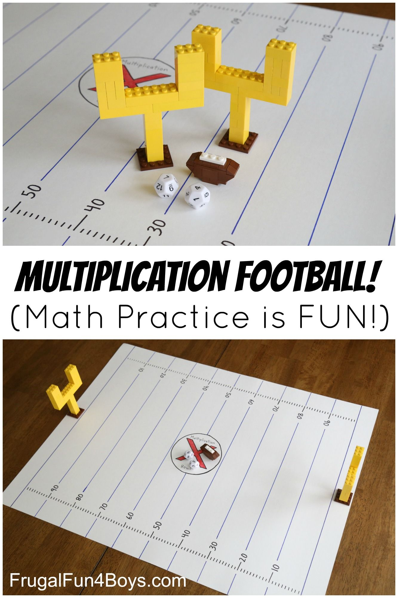Multiplication Football Game Make Math Fact Practice Fun