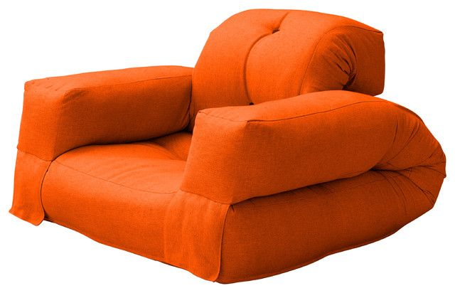 Furniture Admirable Contemporary Sofa Beds Called Hippo Convertible Futon Chair Bed With Orange Mattress