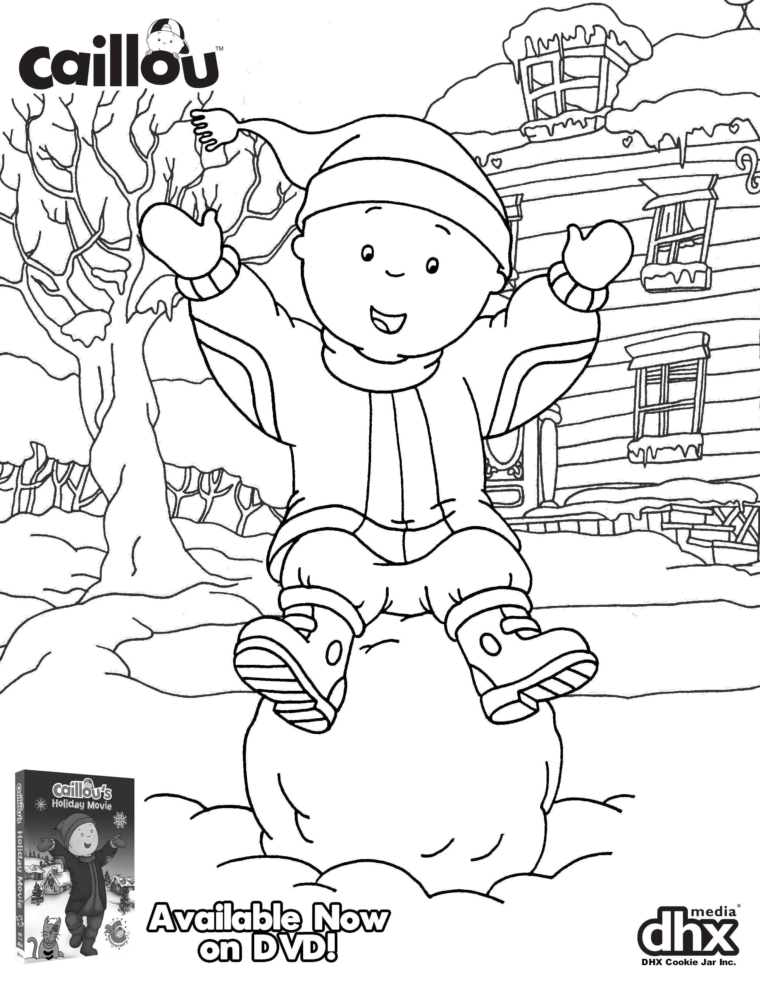 We Re Celebrating The Holidays Early With This Adorable Coloring Sheet And Caillou S Holiday