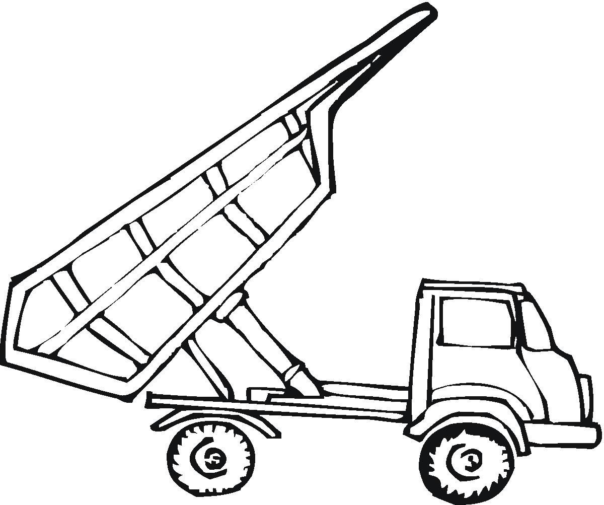 Empty Tipper Truck Coloring Page