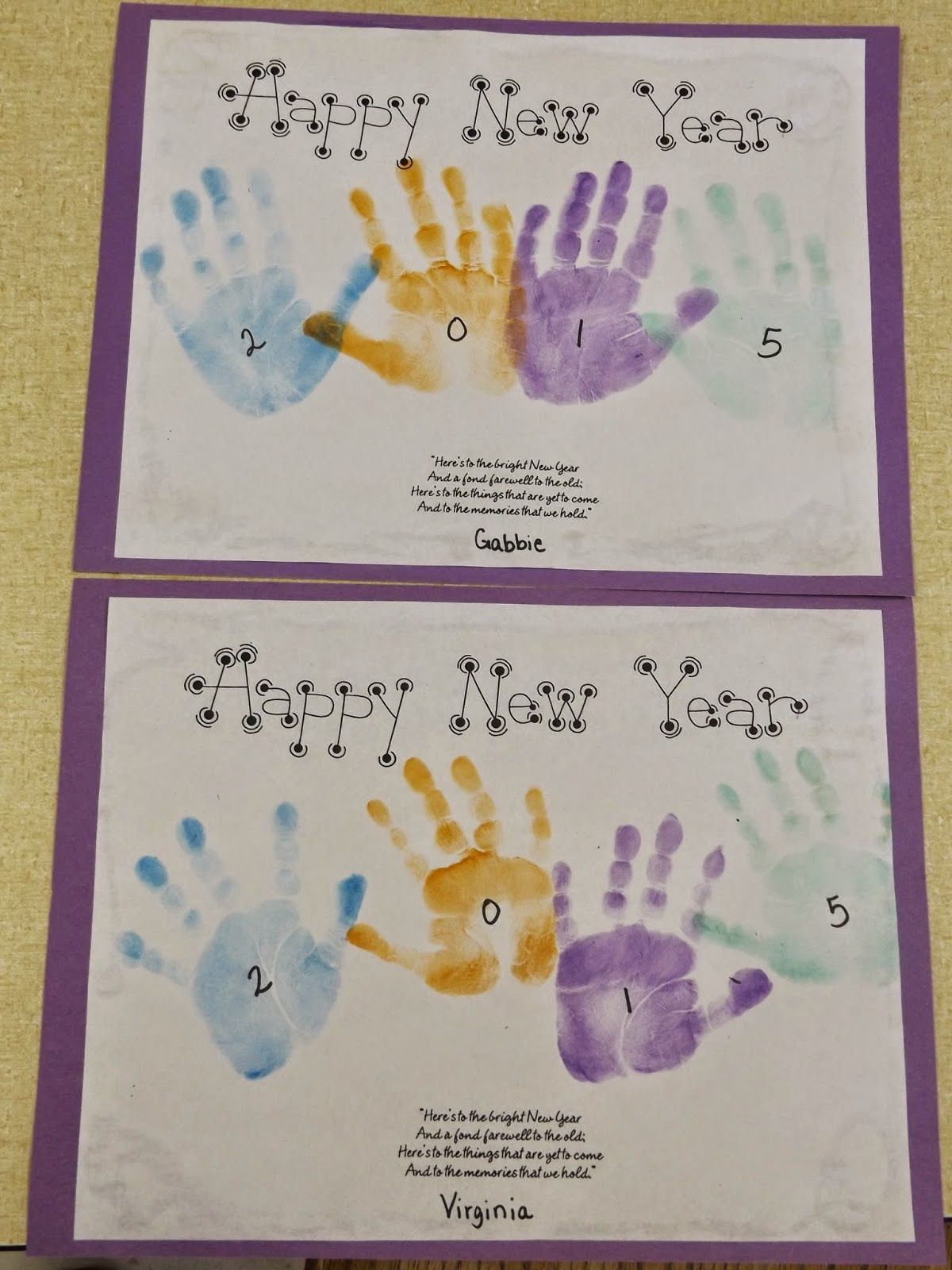Handprint New Year