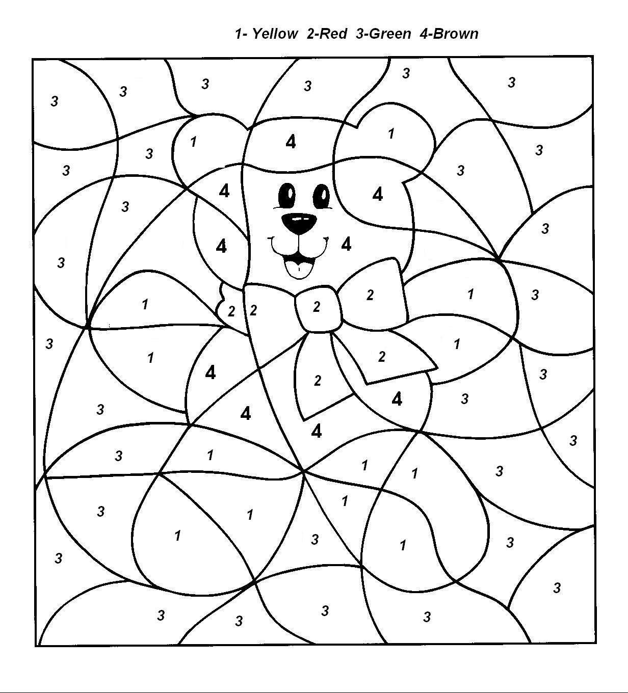 Color By Number Coloring Pages For Kids 92