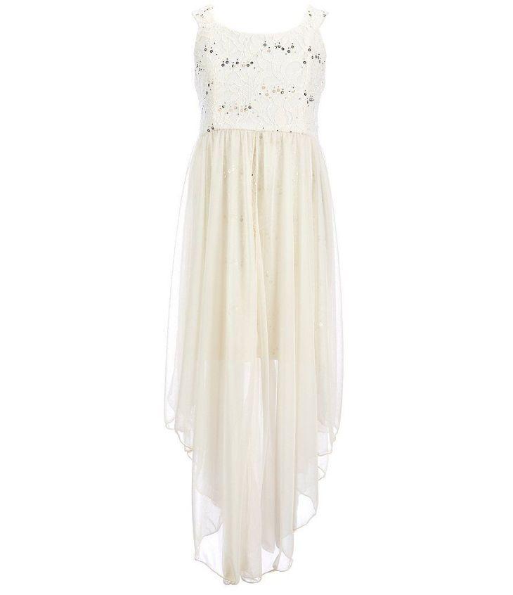 899dc5d0447 Long dresses for girls 7-16 tween diva big girls sequin lace dress ...