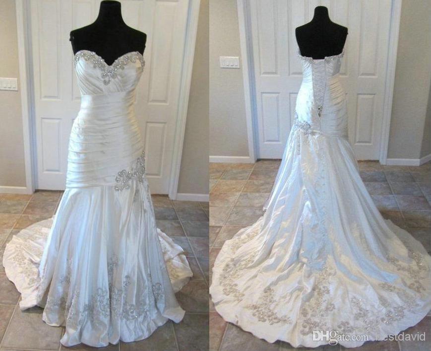 Cheap Bling Designers Mermaid Wedding Dresses 9024 Crystal