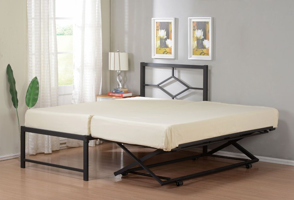 Twin Size Metal HiRise Day Bed Daybed Frame With