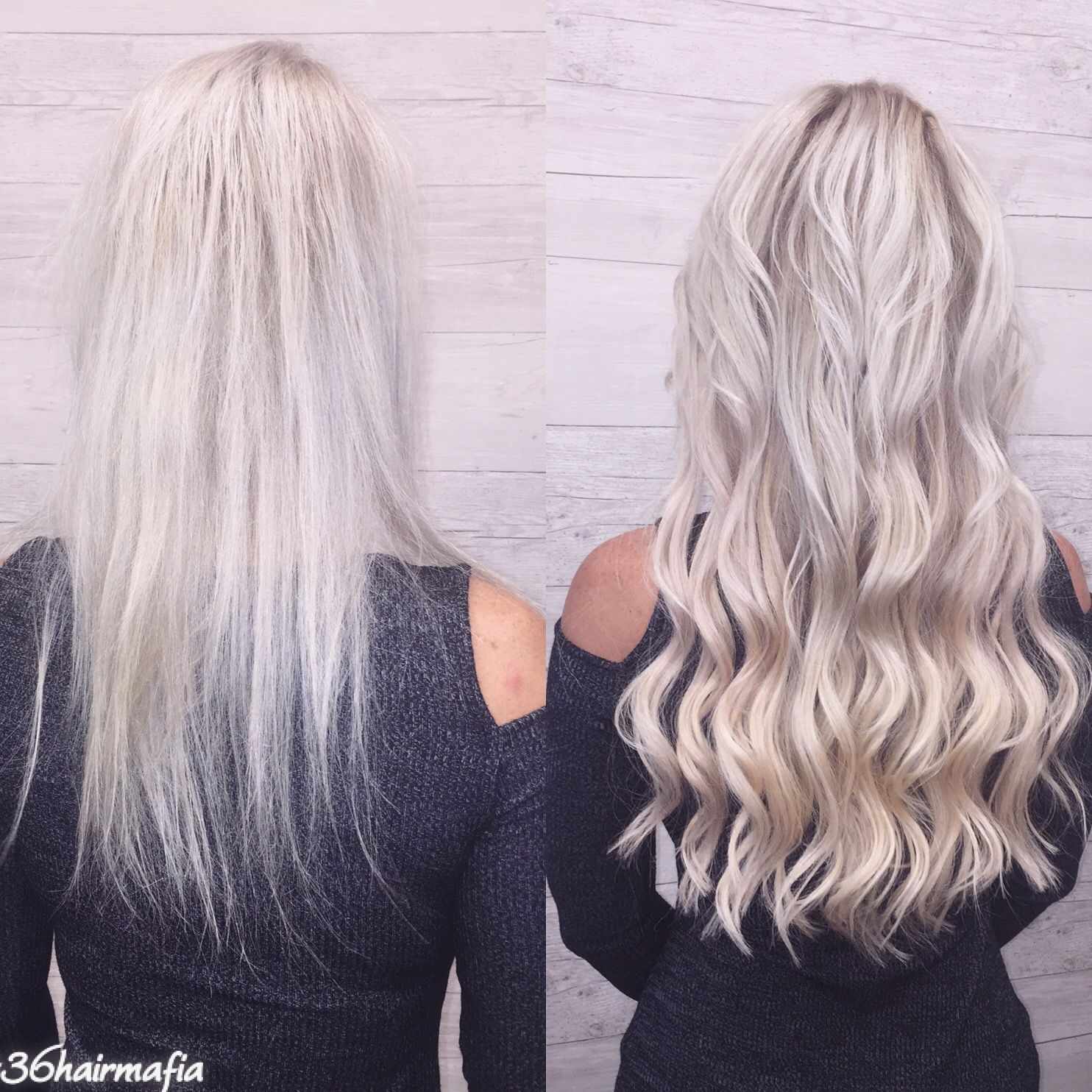 Icey blonde Great Lengths hair extensions the Best of the best