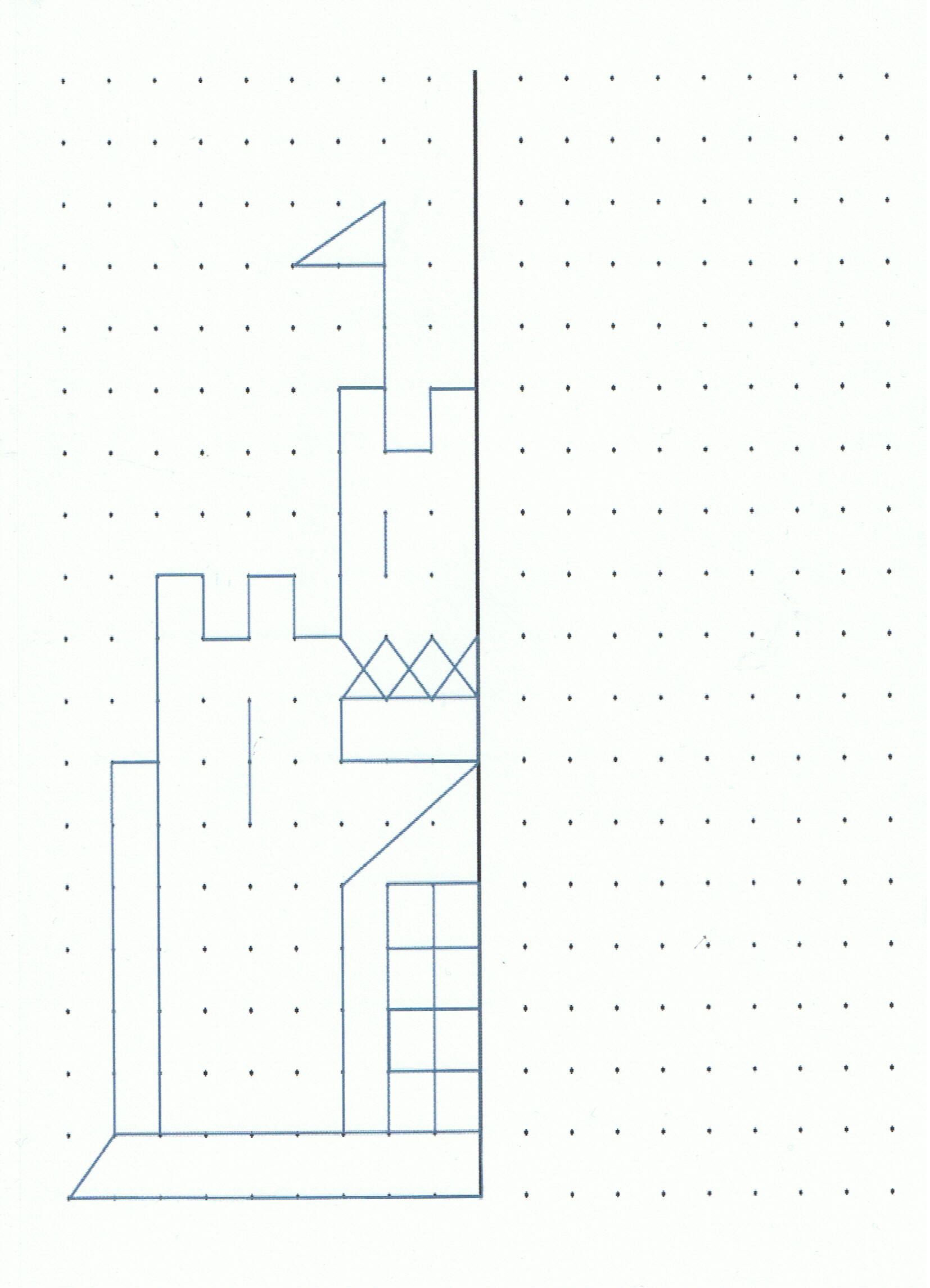 Castle To Draw Or Make A Geoboard Design